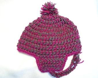 Chunky Crochet Earflap Hat