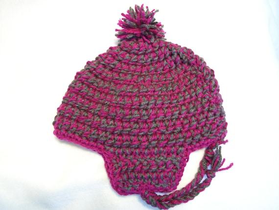 Crochet Chunky Earflap Hat Pattern : Chunky Crochet Earflap Hat
