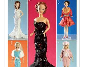 BARBIE CLOTHES PATTERN - Fits 11.5 Inch Dolls / Fancy Dresses -Suits - Gowns