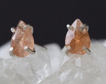 Sunstone Stud Earrings