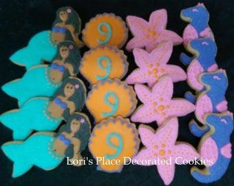 African American Mermaid Cookies - 16 Cookies