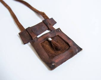 40% OFF SALE Unique leather paintbrush pendant for creative and stylish people