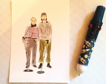 The Detectorists (Andy and Lance) - Bromance postcard print - measures 6x4 / 15x10