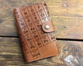 Leather Journal, Leather Sketchbook, Leather Passport cover, periodic table Journal, moleskin Journal, field notes journal, moleskin cover
