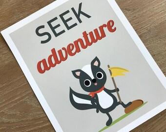 SALE Seek Adventure 8x10 Art Print