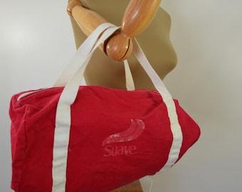 Vintage SUAVE Shampoo Cotton Canvas duffel gym bag