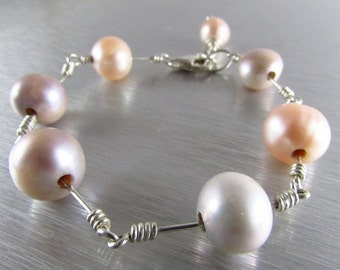 25% Off Modern Pearl Bracelet With Sterling Silver