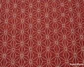 """Scrap / Kimono Fabric - Asanoha Red - 110cm/43""""W x 53cm/20""""L"""
