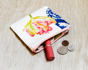 Tulip Pouch, Mothers Day Gift, Gift for Her, Teacher Gift, Grad Gift, Zipper Pouch, Cute Pouch, Floral Fabric Pouch, Coin Purse, Pouch