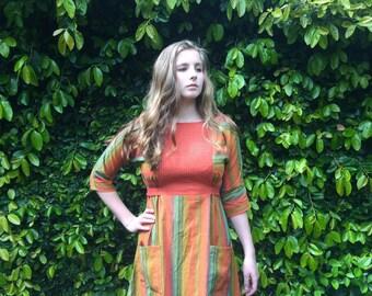 Astrid dress- Sunset stripe- XS