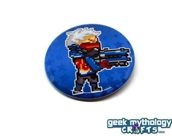 "Soldier 76 Hero Pins - 1.5"" Pin Button or Magnet"