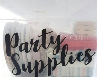 Large Party Supplies Decals