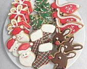 Santa Set of 25 cookies