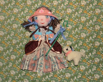 mary had a little lamb hand puppet with removable clothing, crook and pet lamb toy.