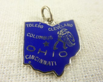 Vintage Sterling Silver Ohio Charm