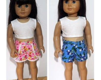 18 inch Dolls Clothes - Girl Doll Clothes - Shorts Outfit - Summer