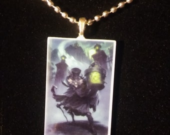Haunted Mansion Hat Box Ghost Necklace