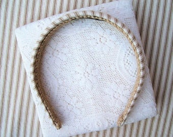 khaki stripe headband