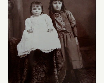 ON SALE Antique Photos the girls Martha and Baby Millie