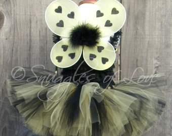 Bee Wings - Bumblebee Wings - Bumble Bee Wings - Bee Costume - Bee Halloween Costume - Bumble Bee Costume - Yellow and Black Wings