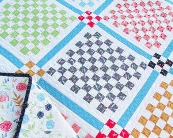 Patchwork Garden Quilt Paper Pattern