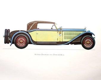 Austro-Daimler 1931 (Type A.D.R. 8) Car Collector Lithograph Print