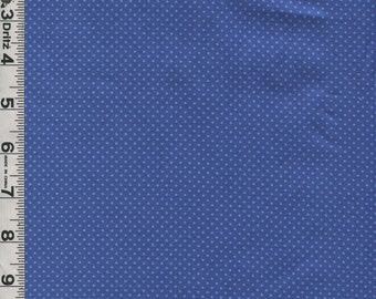 Fabric In the Beginning Cat Centric Cats with attitude blue mini polka dot on medium blue coordinate
