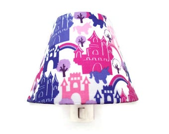 Princess Castle Night Light - Girls Castles Nightlight - Pink Purple Bedroom Decor - Nursery Night Light - Fairytale Girl Night Light