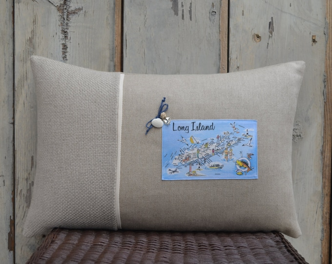 Long Island Postcard Pillow  (available in 4 styles)