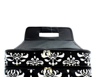 Personalized Insulated Black Bloom Damask Casserole Carrier PERFECT GIFT