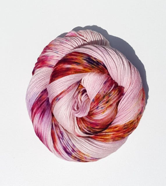 Asiatic Lily- 100 Cotton, Hand Dyed, Variegated, Speckled, Hand Painted Yarn