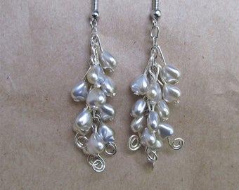 Cluster Pear Earrings