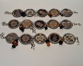 UCF...University of Central Florida Knights Bottle Cap Bracelet.. Pick the one you want.. In stock, ready to ship..