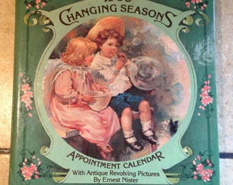 1986 Changing Seasons Appointment Calendar Book