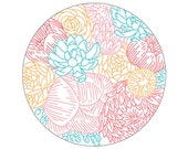 Floral Profusion PDF Embroidery Pattern