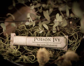 Poison Ivy™ - natural lip balm with beeswax, cocoa butter, shea butter, forest-inspired natural flavor, eco friendly tube