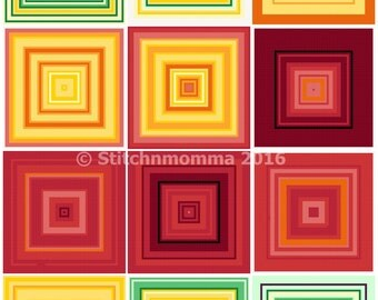 16002 Temperature Block Sampler Cross Stitch PDF Pattern - DIGITAL DOWNLOAD