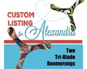 CUSTOM ORDER for Alexandra - 2 Three-Wing Boomerangs