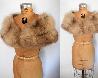 Fox Fur Stole / Capelet / Silver Fox / Bridal Wedding