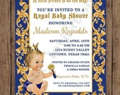 SALE SALE SALE Custom Printed Vintage Antique Royal Prince Baby Shower Invitations - Any hair color -  1.00 each with envelope
