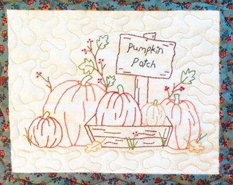 Pumpkin Patch for Seasons embroidery quilt Pattern