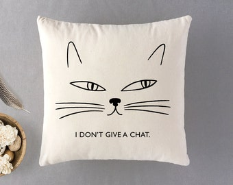 Funny Cat Lover Gift,Funny Cat Cushion, Cat Lady Gift, Gift for Cat Lover,Gift for Aunt,Pillow with Insert,100% Cotton Throw Pillow,