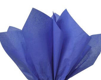 Sapphire Blue Tissue Paper, Royal Blue Tissue Paper . 20 x 30 inches . 24 sheets