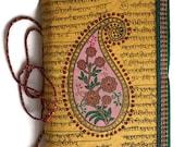 Indian Paisley, Art Journal, Writing Diary, Mustard Yellow, Blank Pregnancy Book, Special Memories Journal, Maternity Gift, Keepsake