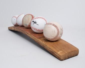 5 Baseball Wine Barrel Display