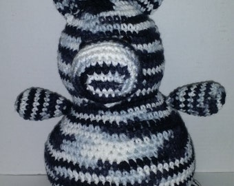 Zebra/Plush Toy/Crochet Zebra/Amigurumi/Stuffed Toy/Amigurumi Toy/Safe Toy for Toddler and Child/Black and White/Childs Toy/African Zebra