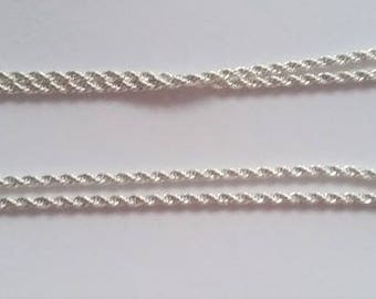 Silver Twisted chain 20 inch