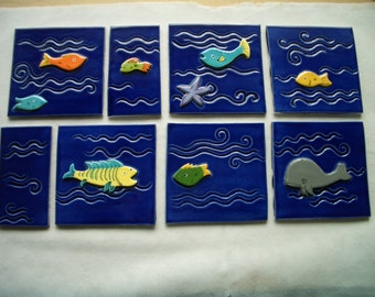ST2 - FISH TILES Set - Ceramic Tiles