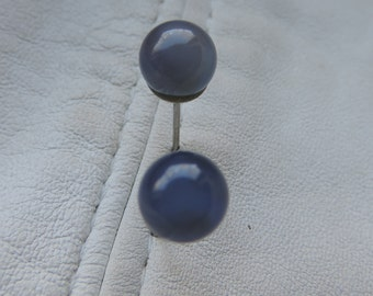 chalcedony earrings sterling silver studs