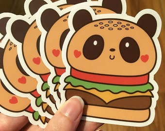 Panda Burger Sticker